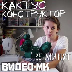"""Мастер-класс """"Интерьерная игрушка Кактус - конструктор"""""""